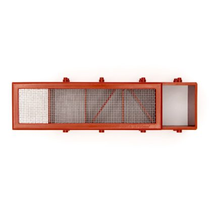 Humane Mouse Trap Airbrick Grill - Terracotta Opened