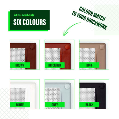 MouseMesh Air Brick Covers Pest Proofing - Colours Air Brick Covers