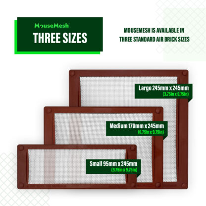 MouseMesh Air Brick Covers Pest Proofing - Standard Sizes Air Brick Covers